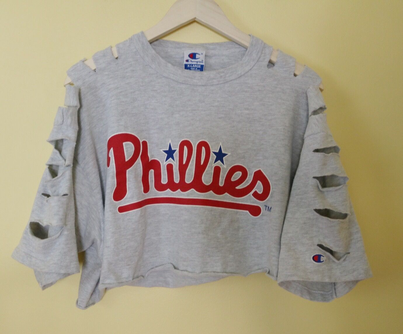 c4ef2b45cc8 Phillies Crop Top. DIY crop top. Edgy outfit. Edgy fashion. Grunge ...