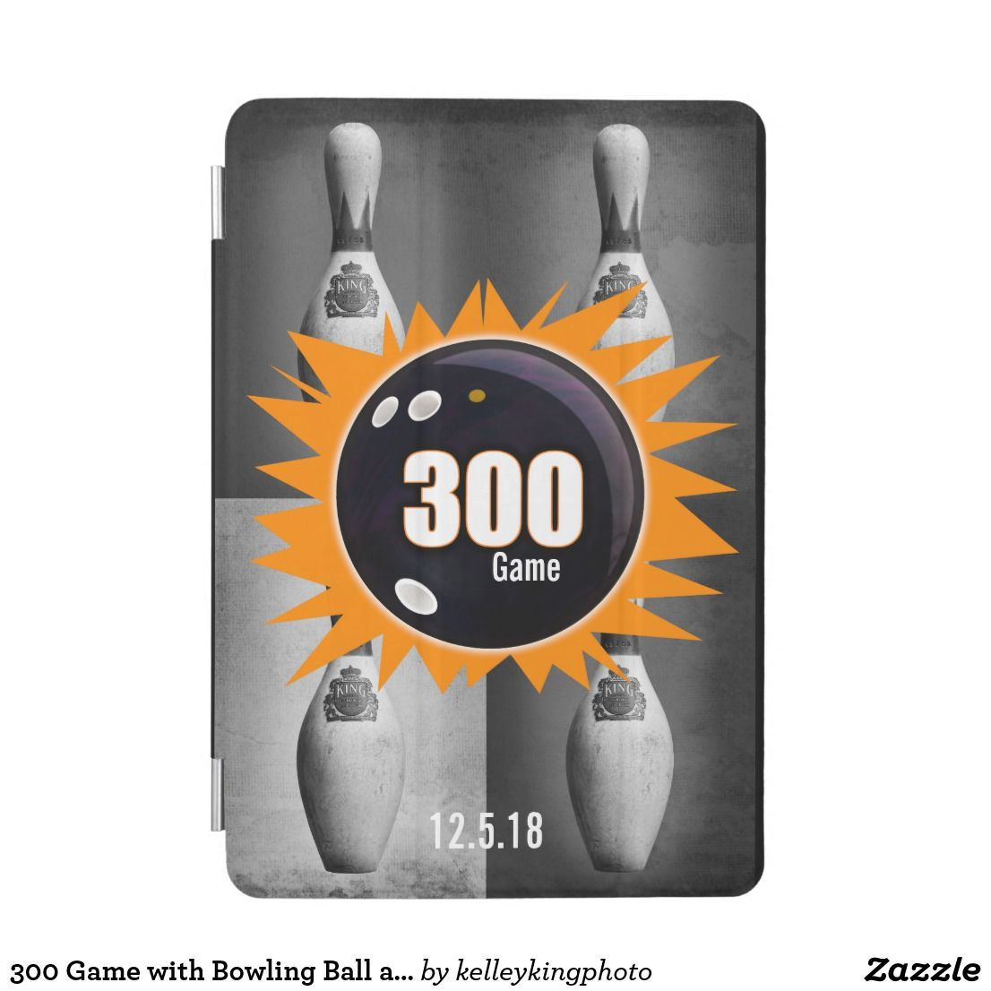 300 Game with Bowling Ball and Orange Graphics iPad Mini