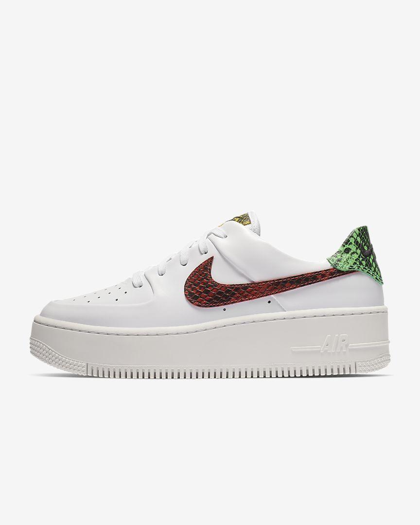 low priced 4c5cf 22b2b Nike Air Force 1 Sage Low Premium Animal Women s Shoe.