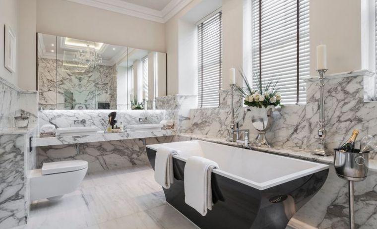 Carrelage salle de bain marbre blanc en 24 belles images Pinterest