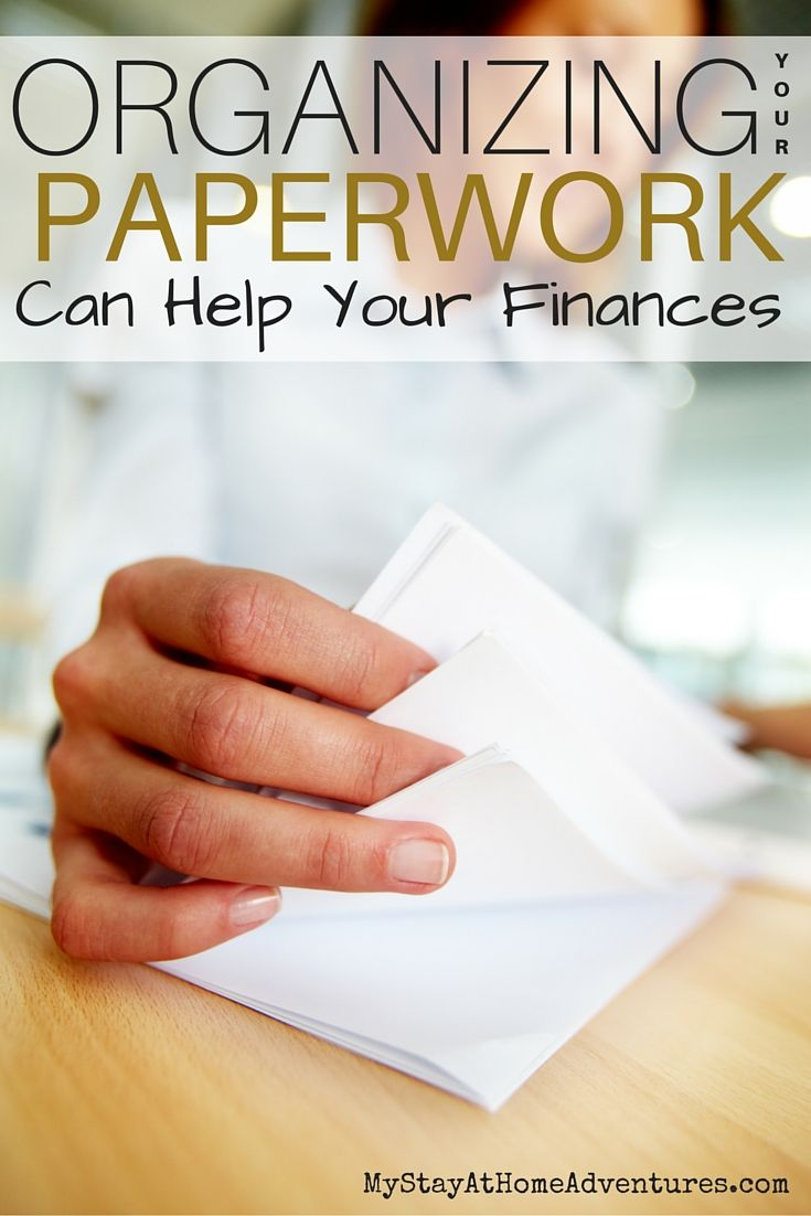 Organizing Your Paperwork Can Help Your Finances Hints