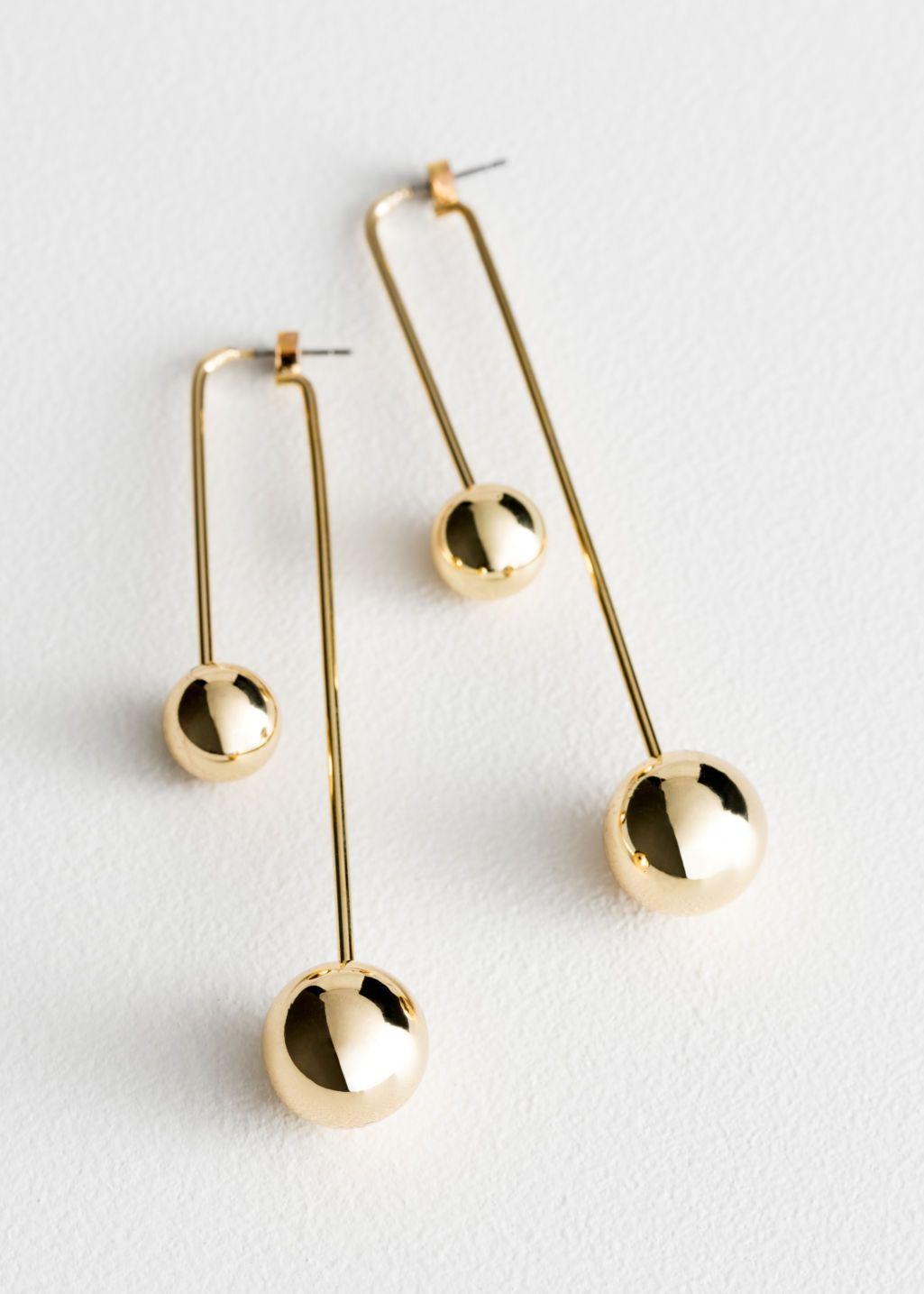 5e710308f Duo Sphere Front Back Earrings - Gold - Drop earrings - & Other Stories US