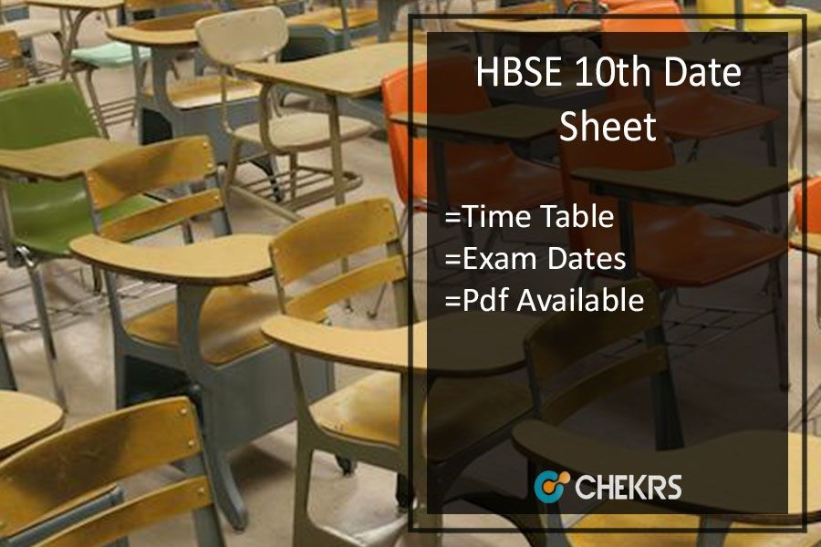 Hbse 10th Date Sheet 2018 Haryana Bhiwani Board 10th Time Table 10 Things Exam Time Exam
