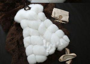 Sheinside® Damen ärmelloser Mantel mit Pelz, schwarz (Asien