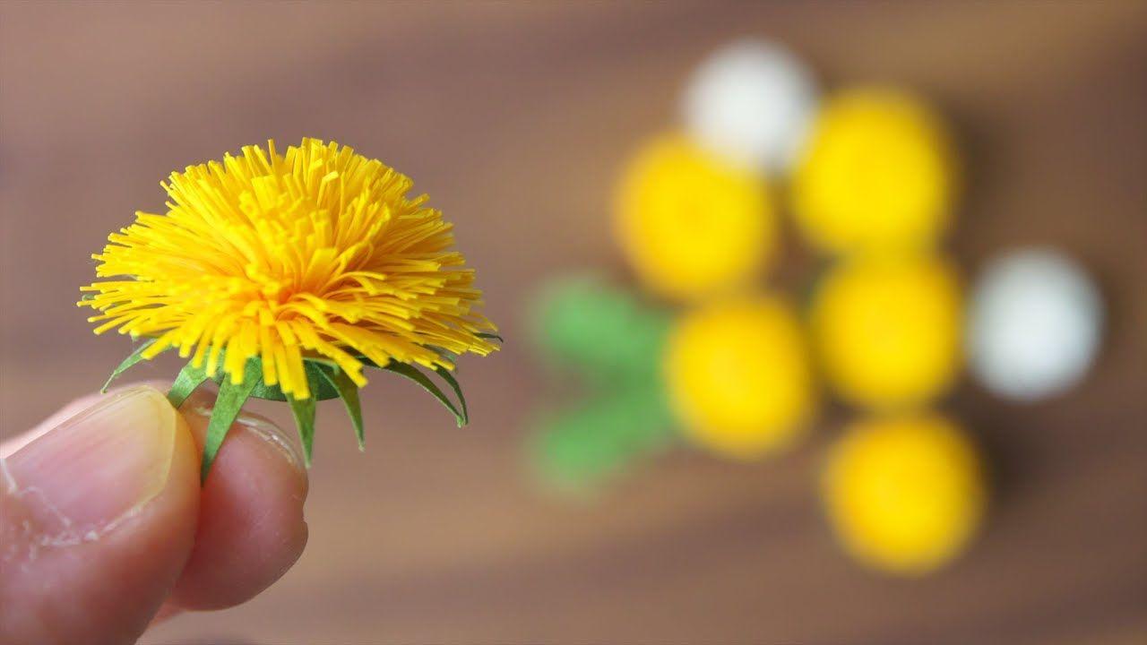 紙で作るたんぽぽの花の作り方 diy how to make paper dandelion youtube paper flower video paper flowers craft paper flowers