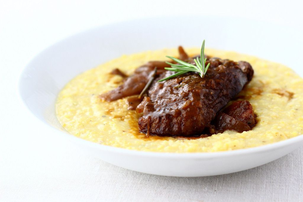 Gojee - Lamb Osso Buco with Creamy Polenta  by The Year in Food