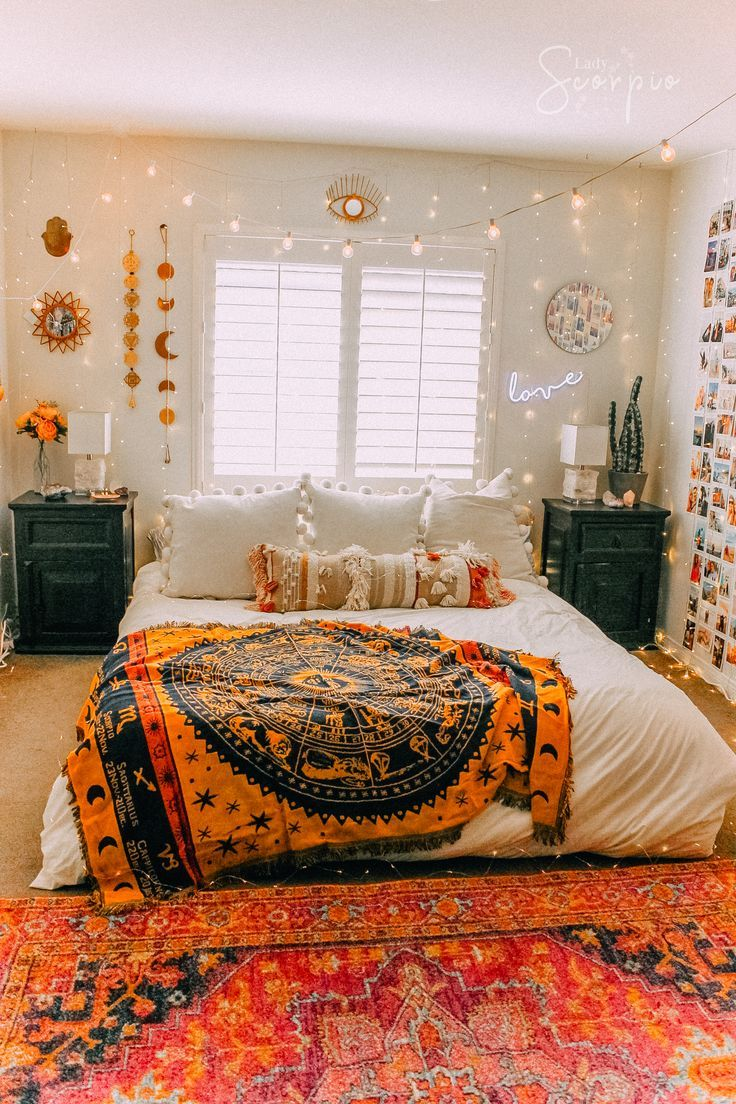 Bohemian Bedrooms Tapestry Eclectic Decor