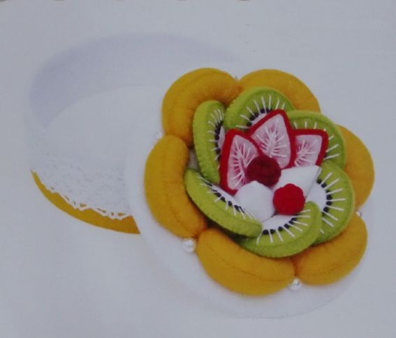 Felt Fruit Cake Kit Please repin Thanks!