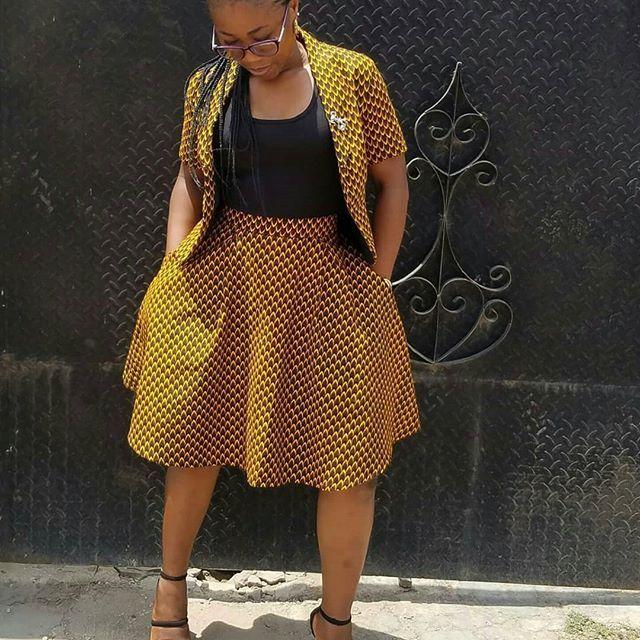 Trendy Ankara Jacket And Skirt Styles 2018 For Stylish Ladies Wear