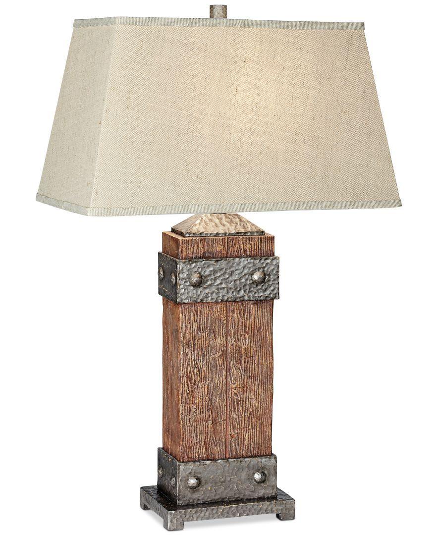 Kathy Ireland Pacific Coast Rockledge Table Lamp Reviews All Lighting Home Decor Macy S Rustic Table Lamps Rustic Lamps Table Lamp