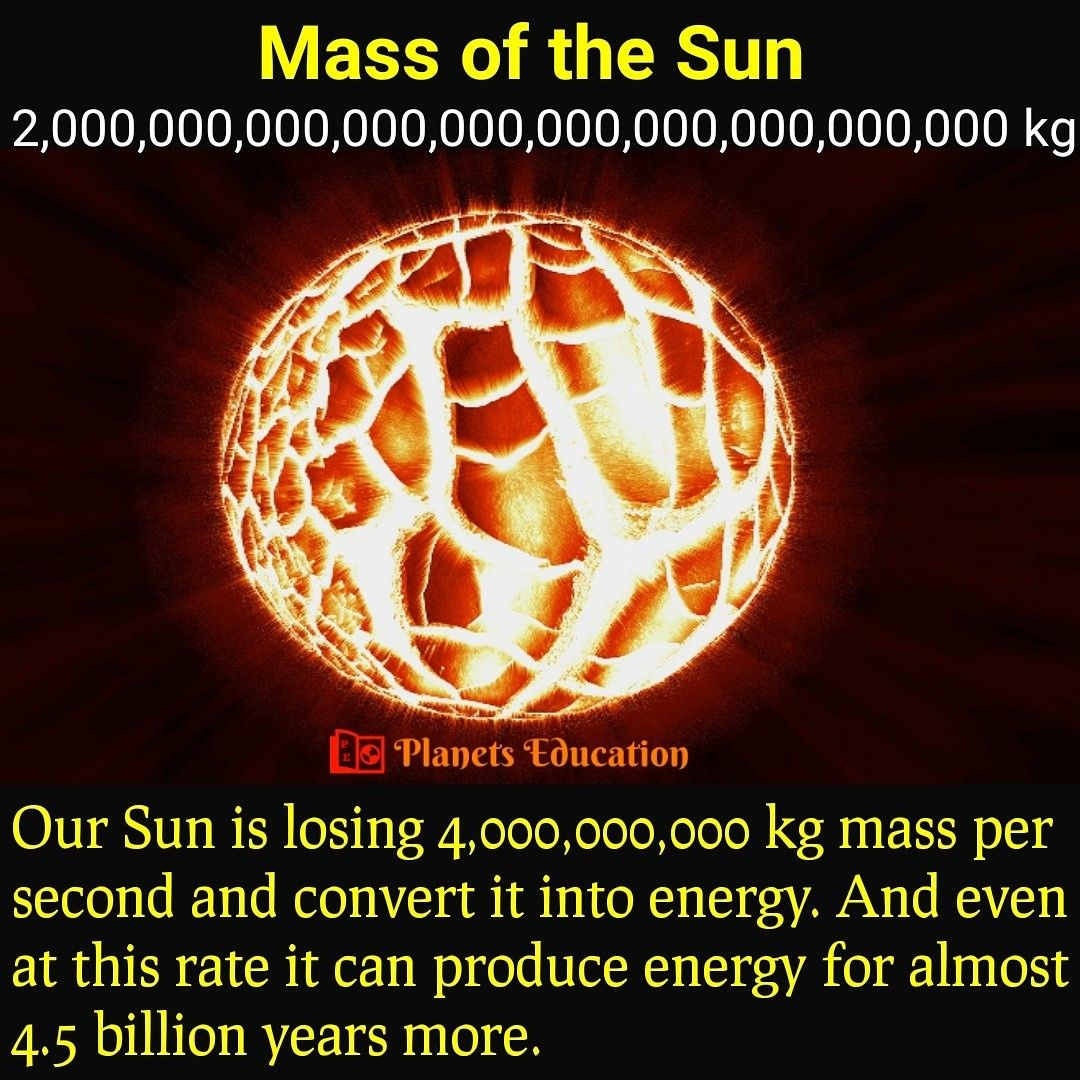 Mass Of The Sun In