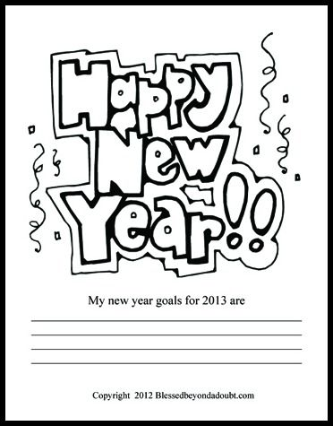 FREE New Year Coloring Pages School Kindergarten and Teacher