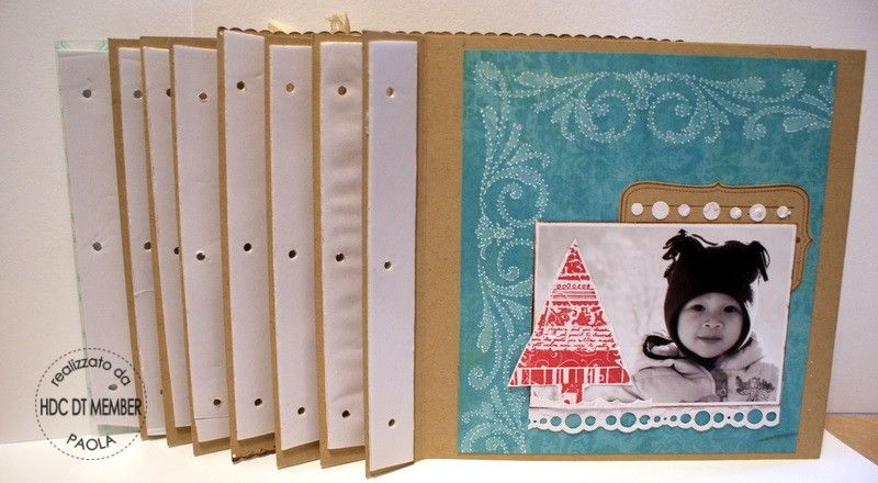 "Hobby di Carta - Il blog: PROGETTO DEL MESE:"" Mini-album winter 2008"" by Paola"