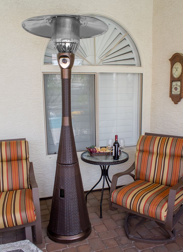Tfps Patio Heaters 87 Tall Outdoor Resin Wicker Patio Heater With