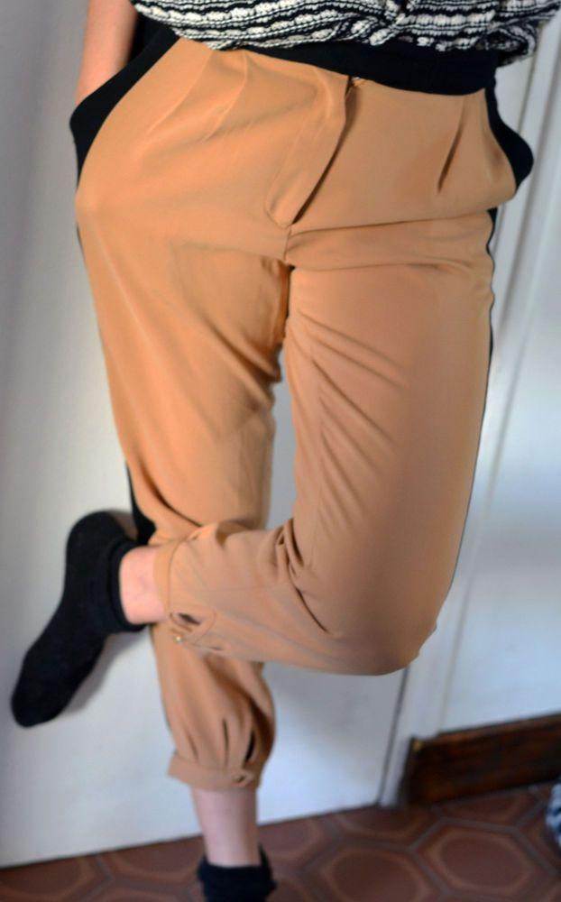 Épinglé sur ZARA Pantalon jogging camel Taille M (38 40)