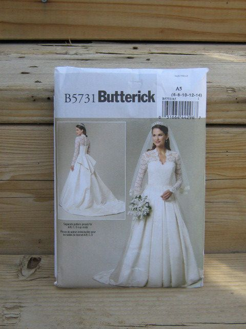 http://weddingstuff2014.com   Wedding Gown Pattern Duchess of Cambridge Butterick by seamstoyou, $7.00