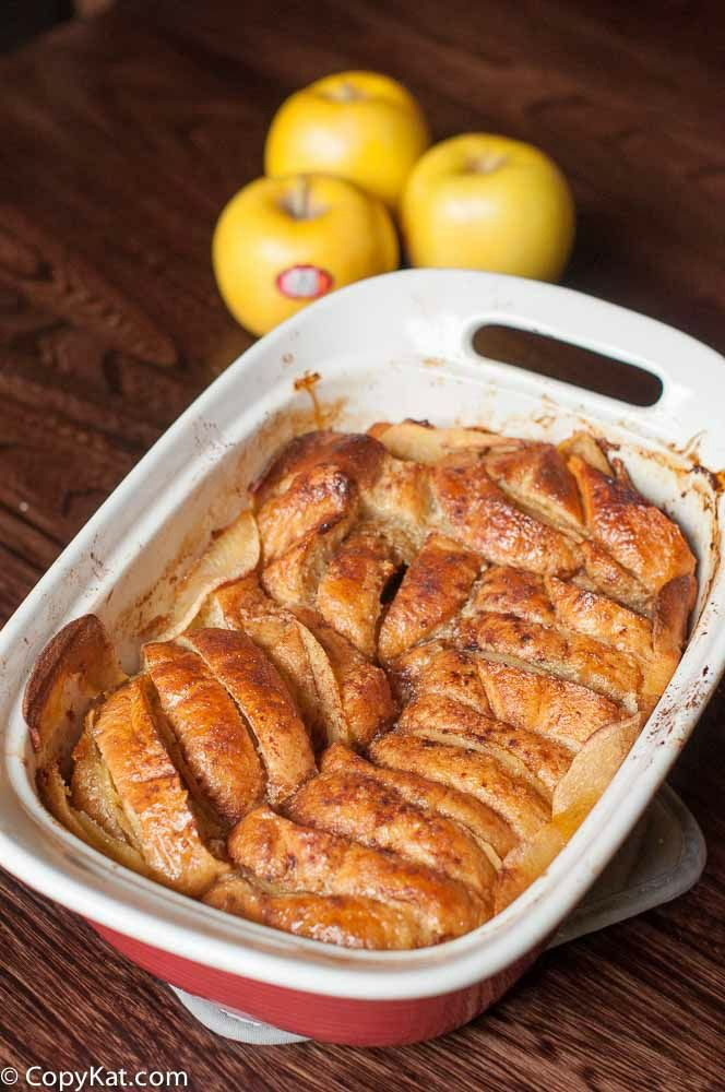 Apple Bread Pudding made with Opal Apples and touch of cinnamon is the perfect dessert.  #OpalApples #OpalAppleBrandAmbassador