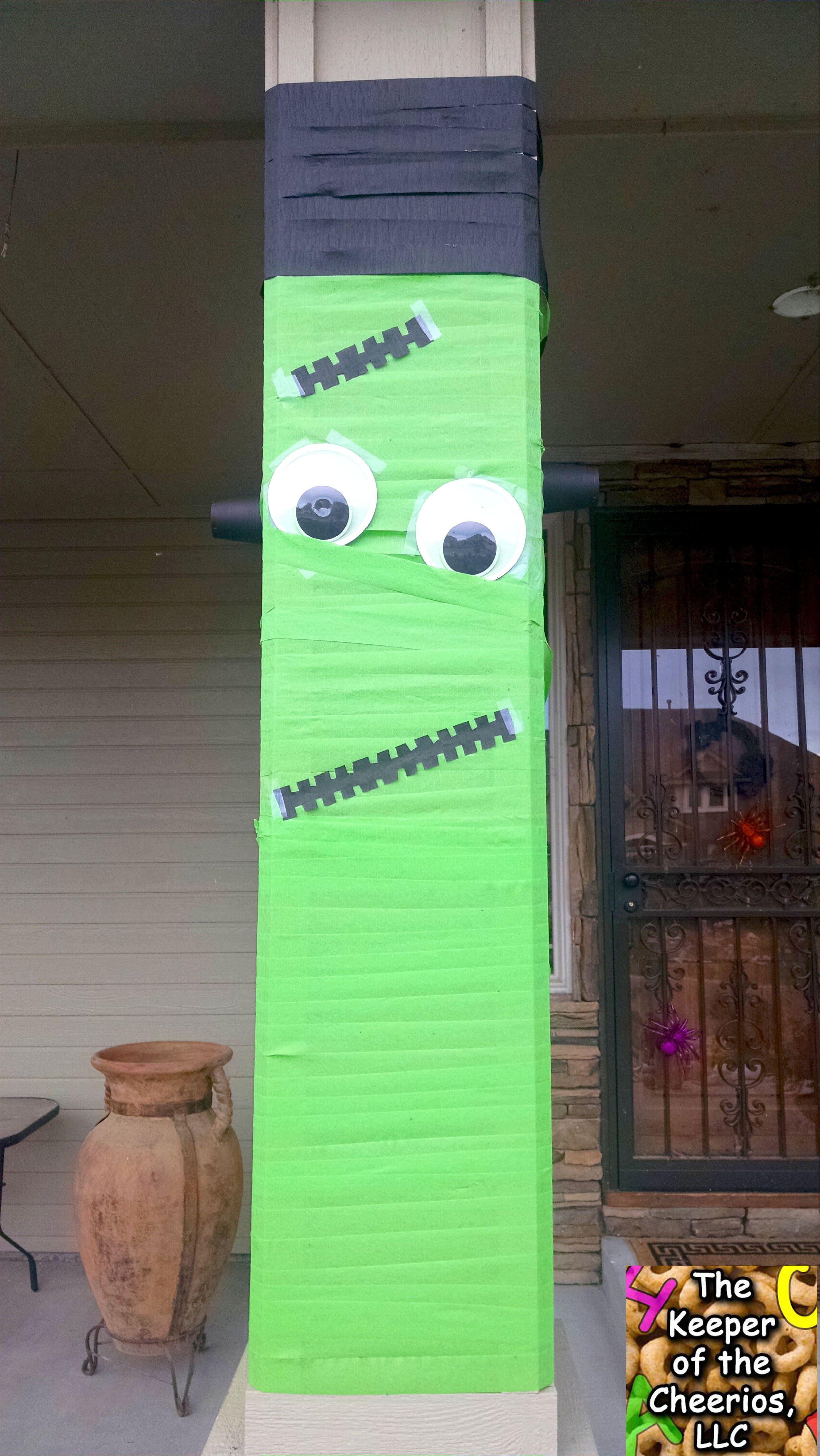 Halloween Mummy and Frankenstein streamer decor – The Keeper of the Cheerios