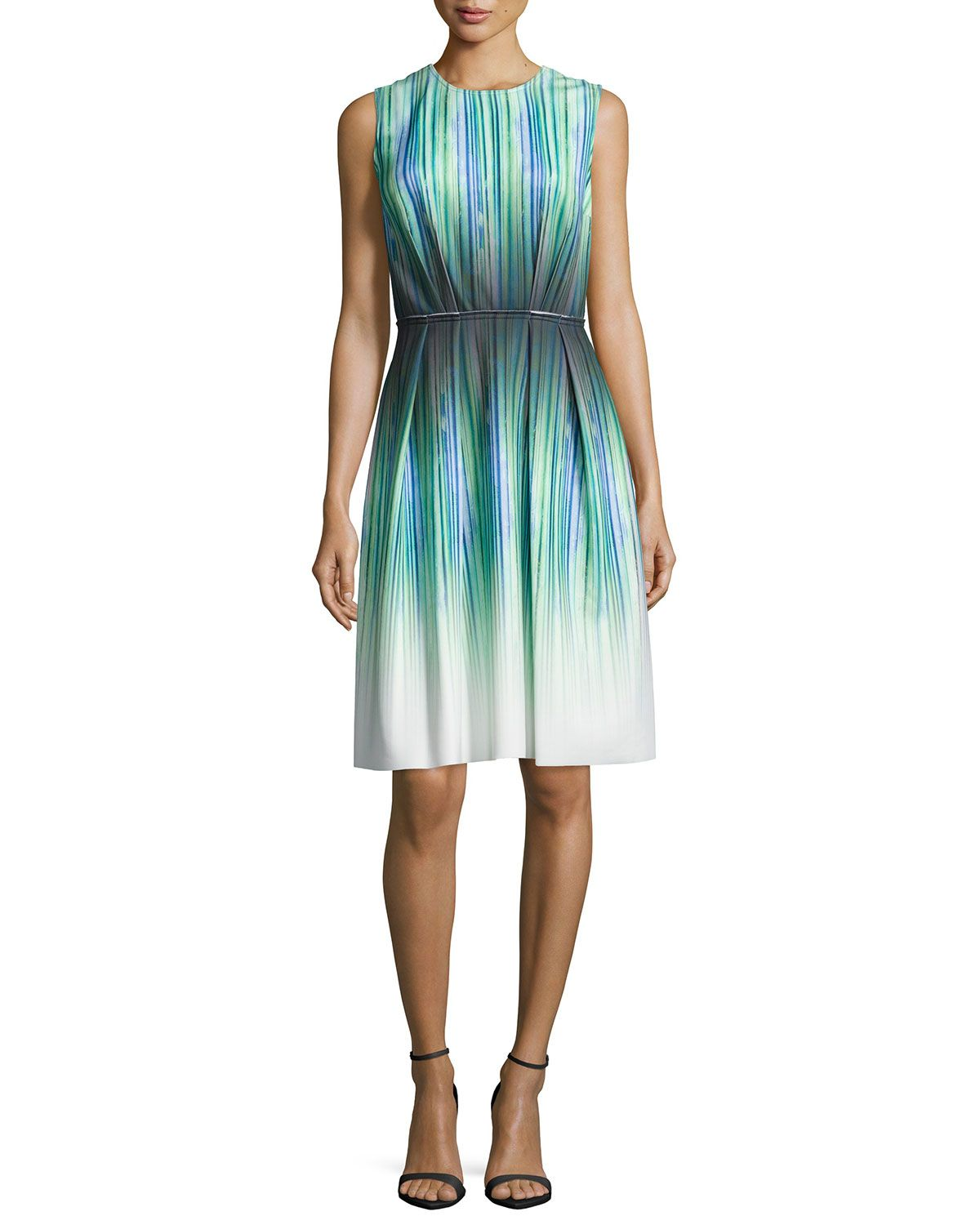 53662943096 Women s Sleeveless Striped-ombre Cocktail Dress