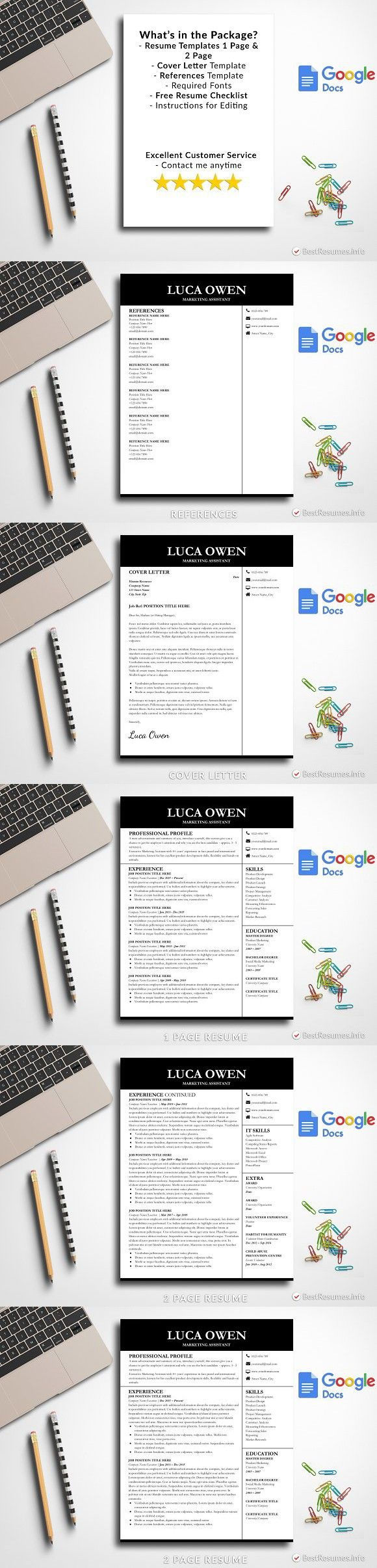 Modern Resume Template Google Docs Modern resume