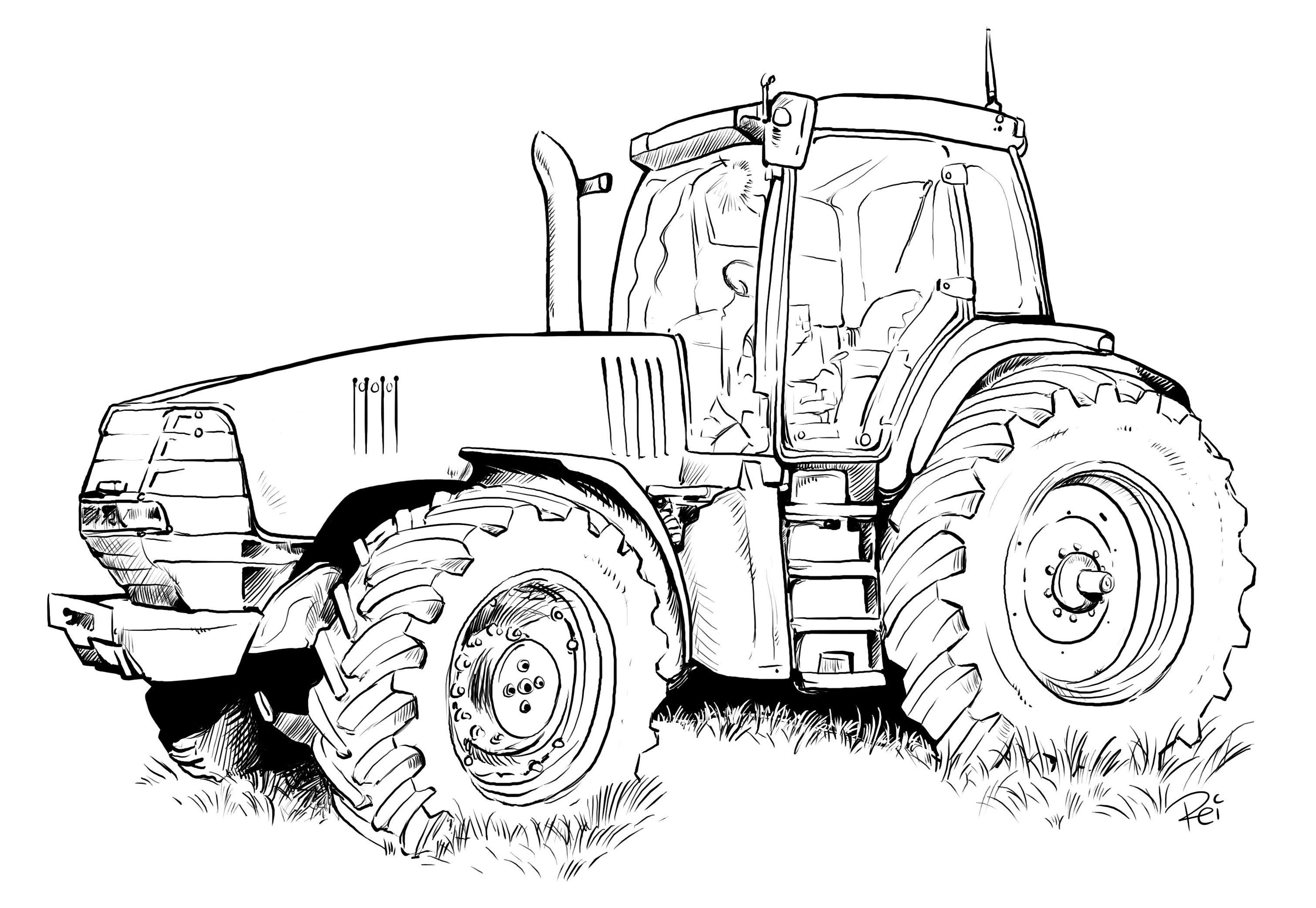 Gratis Malvorlagen John Deere Traktor