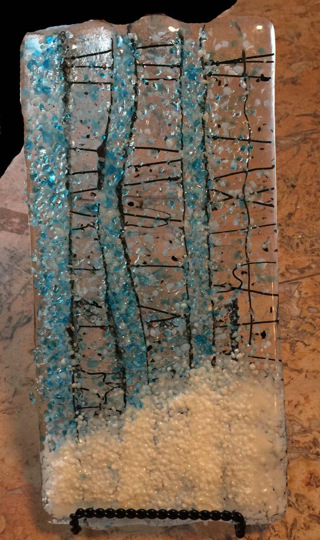 Fused Glass Art Fused Glass Glass Bullseye Coe 90 Frit Winter Glass Art Fused Glass Art Fused Glass
