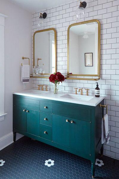 Different Shades Teal Bathroom Bathroom Refresh Bathroom Vanity
