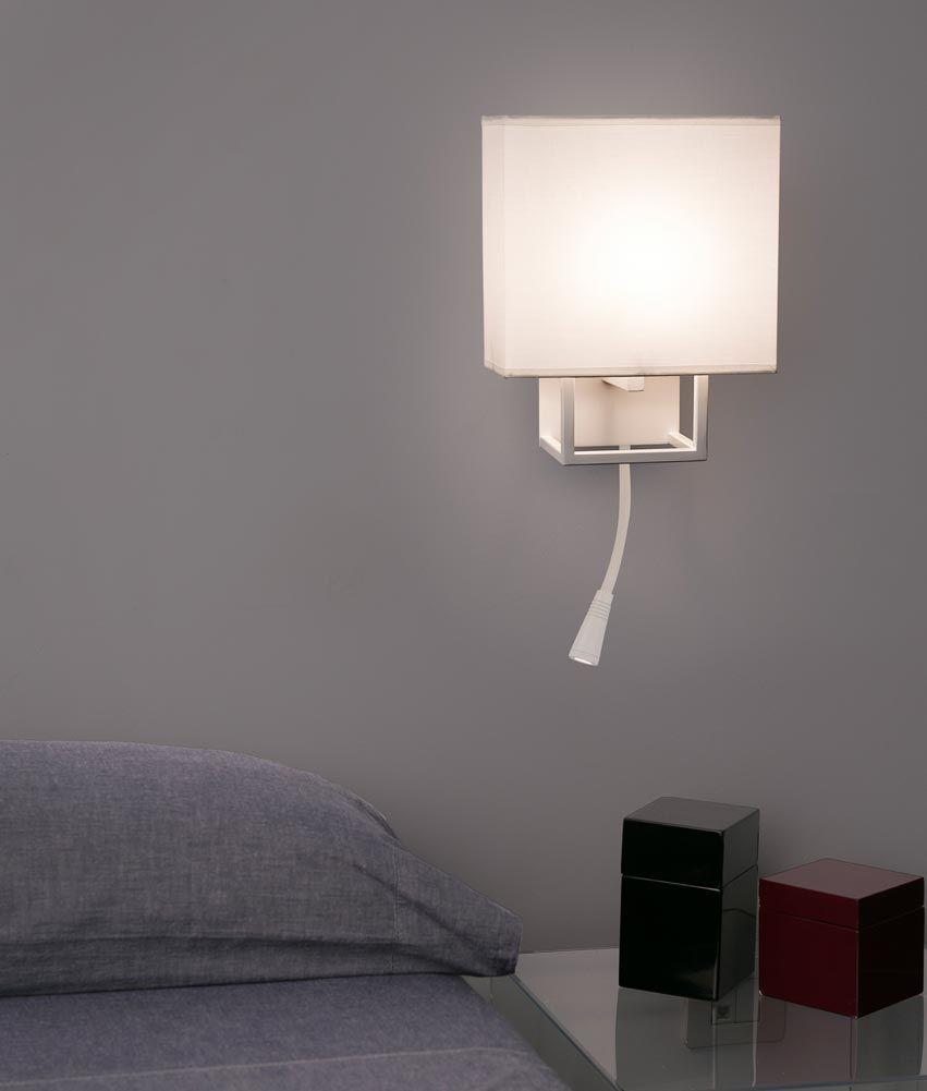 Aplique Con Lector Led Blanco Vesper Apliques De Luz Iluminacion De Cabecera Apliques Pared Dormitorio