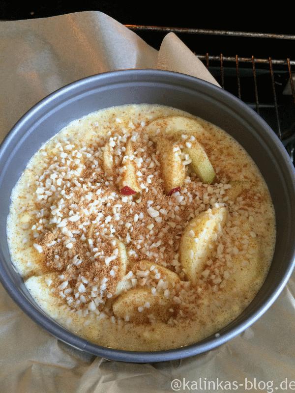 Apfelkuchen in einer Low Carb-Variante - Kalinkas Blog