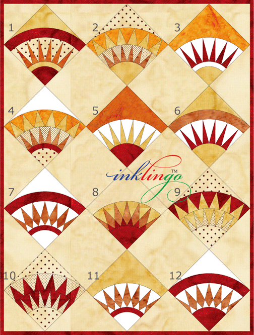 New York Beauty ideas. Previous pinner says: for corner and side blocks on Lone Star quilt
