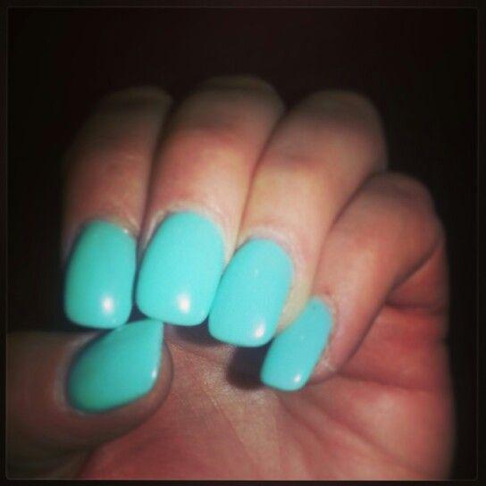 seafoam green nails pretty
