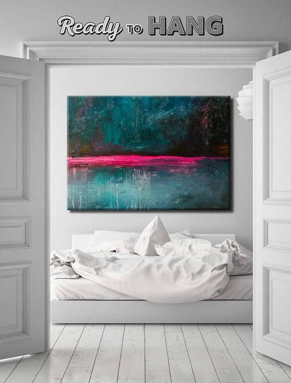 Photo of Large Abstract Painting On Canvas Blue Abstract Painting Brown Painting Canvas Art Abstract Acrylic Painting On Canvas Original Office Decor