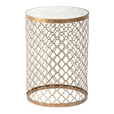 Achica Lorde Round Metal Side Table Gold