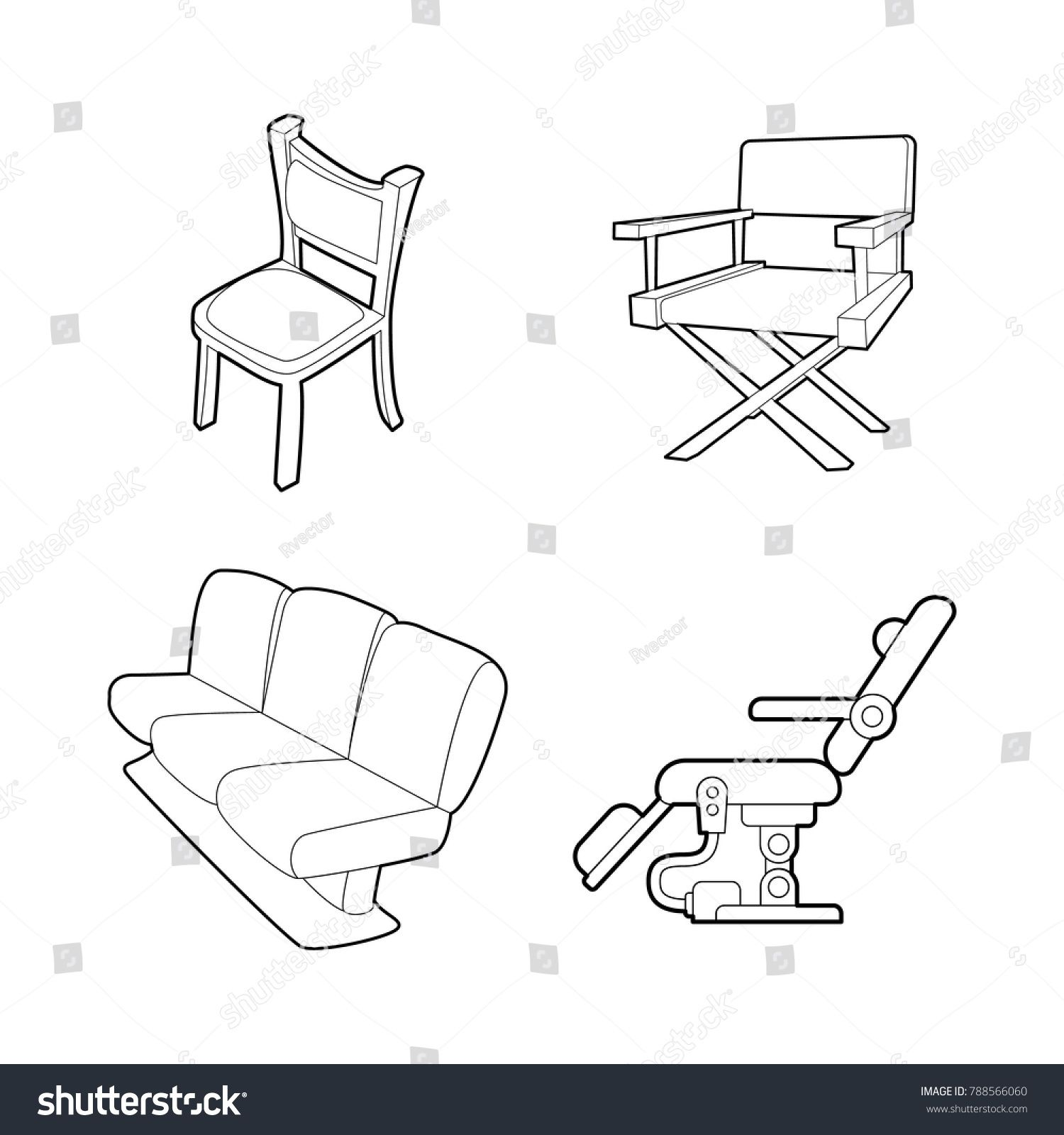 Chair Icon Set Outline Set Of Chair Vector Icons For Web Design Isolated On White Background Ad Ad Outline Chair Vector Chair In 2020 Icon Set Web Design Icon