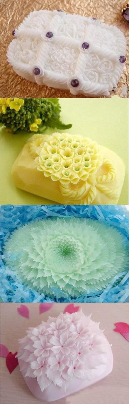 4 excellent soap carving artworks
