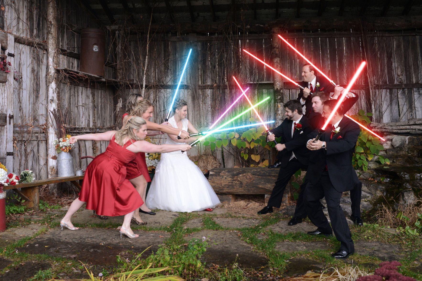 Wedding Lightsabers Starwars Wedding Lightsabers Starwars3 Wedding Lightsabers Starwars2 Star Wars Wedding Star Wars Wedding Theme Wedding Photos