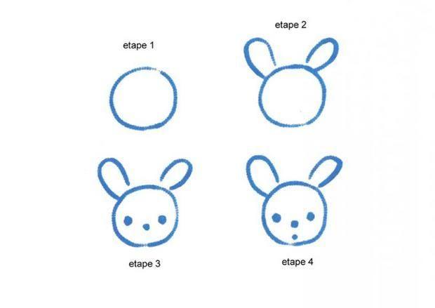 Apprendre A Dessiner Une Taªte De Lapin Dessins Simples Dessins Faciles Pour Les Enfants Dessins Simples Comment Dessiner Un Lapin