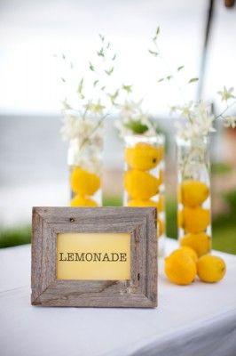 lemonade, cute for a bridal shower! adore...