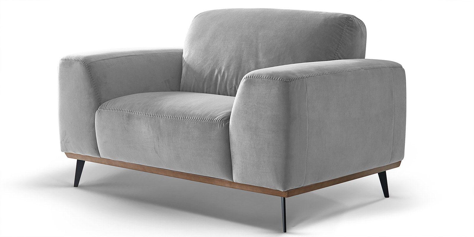 Skandi Design 1 5 Sitzer Couch Mit Holzrahmen Barcelona Comfort2home Sessel Holz Design