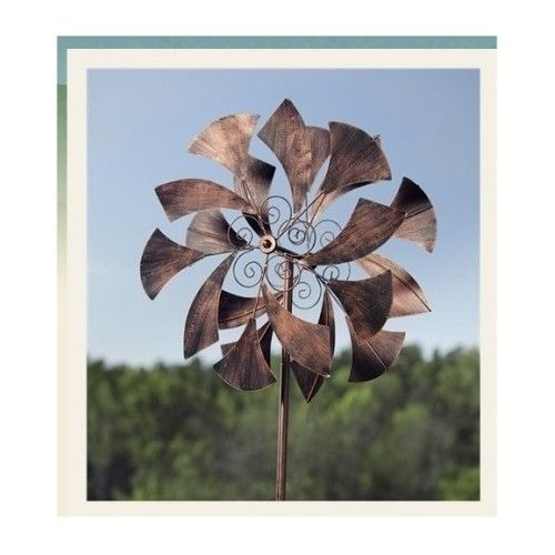 Large 6/' Metal Butterfly Kinetic Wind Spinner Windmill Outdoor Yard Lawn Decor