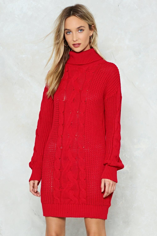 5c092304f7d Nasty Gal Big News Sweater Dress! You re kind of a big deal