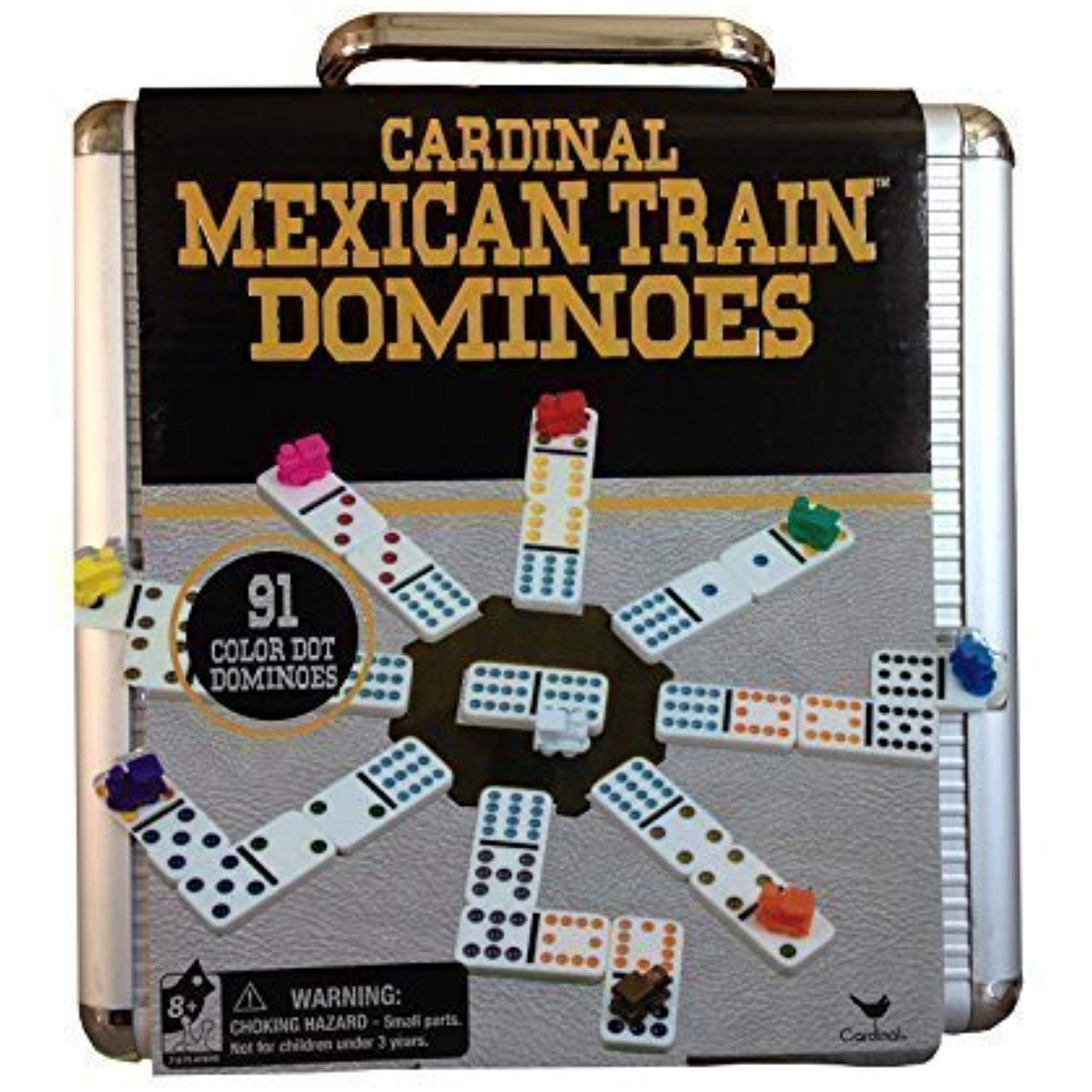 Mexican Train Domino Game in an Aluminum Case by Cardinal