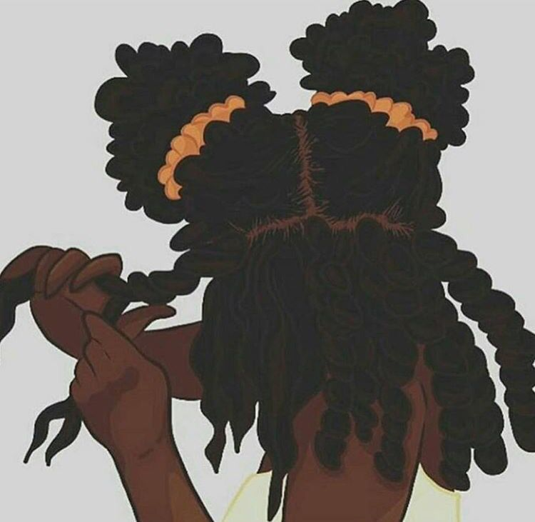 Doing Natural Hair Clipart