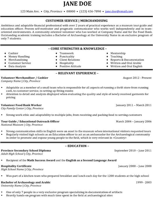 17 best images about best customer service resume templates - Resume Examples For Customer Service Position
