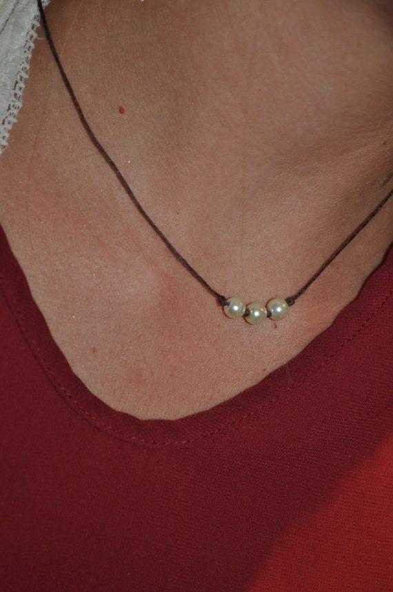 Collar de perlas de 3 por RIGJewelryCo en Etsy