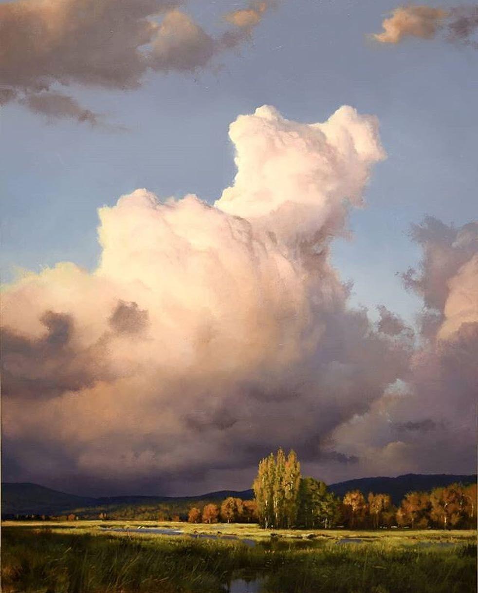 Trek Lexington On Instagram Landscapes By Renatomuccillo Fine Arts Landscape Paintings Oil Painting Landscape Sky Painting