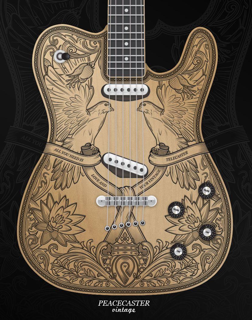 Peacecaster Vinatege Guitar Fender Guitars Telecaster Custom