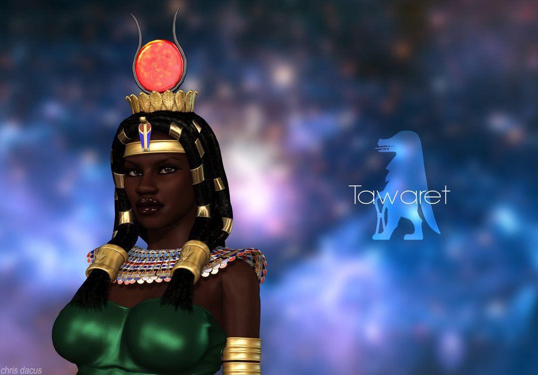 Tawaret Ancient Egyptian Goddess Ancient Egypt Gods Egyptian Goddess Art