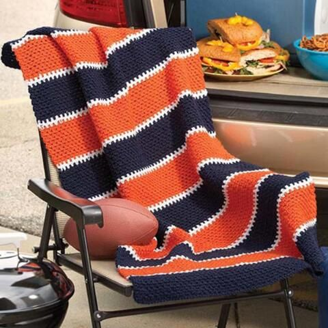 Stadium Blanket Free Download Crochet For Beginners