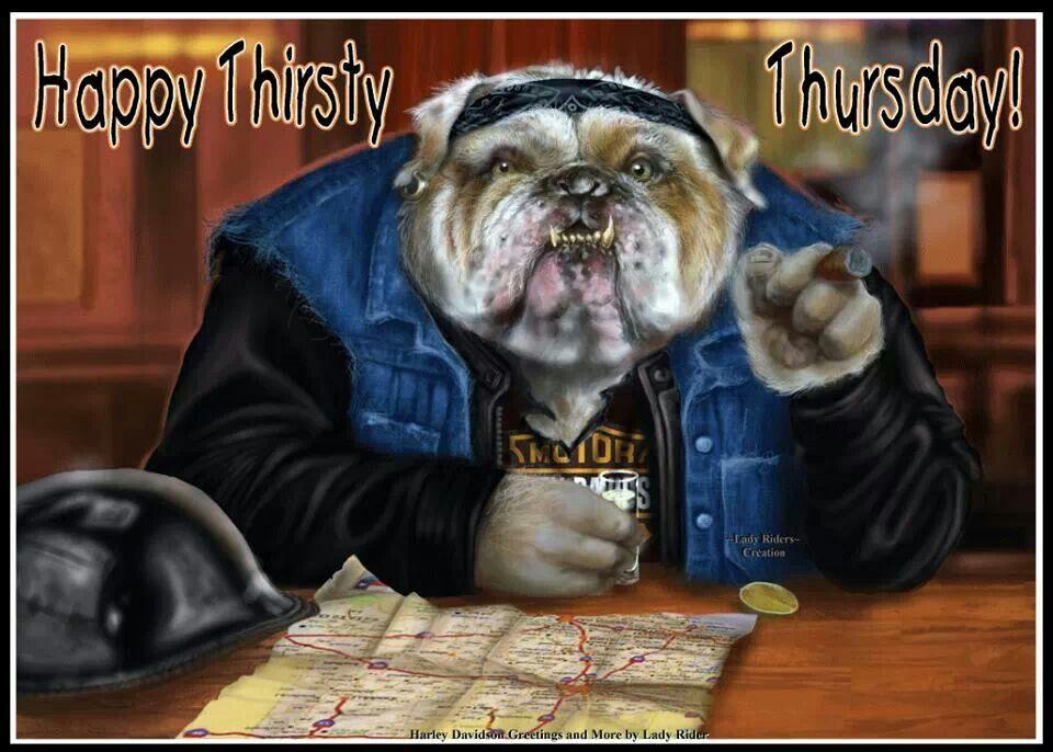 Thirsty Thursday Harley Davdison Buenos Dias Motos